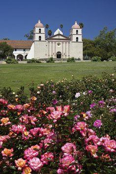 Mission Santa Barbara, California by Michele Burgess