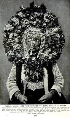 Bulgarian bridal headdress.
