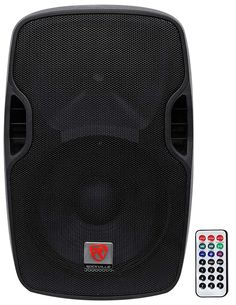 Rockville Professional Powered Active DJ PA Speaker w Bluetooth - Bluetooth Built In-USB/SD Card Player+Wireless Remote Best Powered Speakers, Great Speakers, Speakers For Sale, Android Library, Passive Speaker, Bookshelf Speakers, Speaker Stands, Bluetooth Speakers, Sd Card
