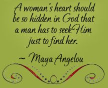 I love this quote. I pray that God would give me the love and willingness to trust in Him so that I may be such a woman!