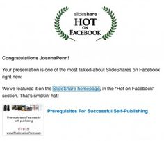 Using Slideshare for Marketing Fiction (pin to read later)