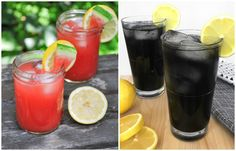Red and black: two quick, but special recipes for lemonade, which will perfectly refresh in the heat