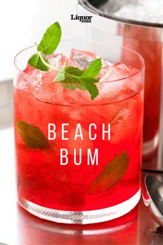 The Beach Bum Cocktail Recipe: Feel like you're on permanent vacation with the., Beach Bum Cocktail Recipe: Feel like you're on permanent vacation with the refreshing vodka-based Beach Bum cocktail recipe. Liquor Drinks, Non Alcoholic Drinks, Tequila Drinks, Watermelon Vodka Drinks, Bourbon Drinks, Alcoholic Drinks Recipes With Vodka, Fireball Recipes, Alcholic Drinks, Whiskey Cocktails