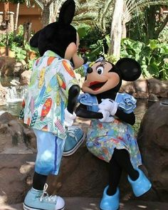 Mickey & Minnie at Aulani a Disney Resort & Spa in Hawaii
