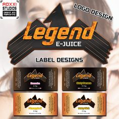 We're big fans of vaping! Here's a sneak peek at a great new e-juice company, Legend E-juice! We've developed their logo and are working on a full branding package to help market them to the world. If you vape, give them a try!