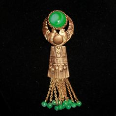 An Art Deco Egyptian revival vintage french brooch  by ThisisParis