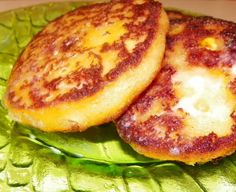 Arepas Recipe - Food.com Yellow corn meal & cheddar cheese version