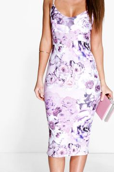 Carolinn Floral Midi Dress at boohoo.com