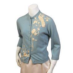 Vintage - Hand appliqued Cashmere Sweater