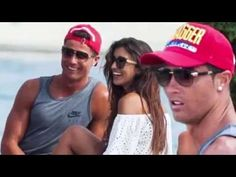 Cristiano Ronaldo giggles with brunette beauty on holiday in Ibiza after...