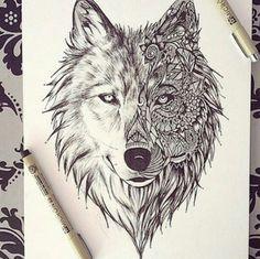 #wolf #dog #art #ink #design #drawing #sketch #value