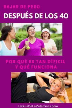 Bajar De Peso Después De Los 40: Plan Sencillo De 10 Pasos I Am Beautiful, Weight Control, For Your Health, Yoga, Wellness, Fitness, Exercises, Diet To Lose Weight, Medicine