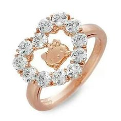 hello kitty x swarovski silver love ring wedding order made size japan gift fs - Hello Kitty Wedding Ring