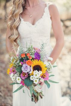 Colourful Wedding Bouquet with Dusty Pink and Red Flowers, Summer Bouquets, Pink Bouquet. wedding bouquet Boho Chic Has Never Looked So Pretty Simple Wedding Bouquets, Wedding Flower Guide, Rustic Wedding Flowers, Wedding Flower Inspiration, Bridal Flowers, Boho Wedding, Floral Wedding, Wedding Colors, Wedding Dresses