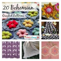 Bohemian Patterns: 20 Free Crochet Patterns