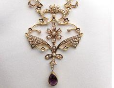 isadora antique pearl pendant