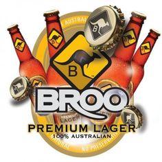 Broo Premium Lager, Australian Lager Beer, Beer from Australia seeking for distributors Beer Brewery, Lager Beer, Beer Poster, Poster Ads, Australian Beer, Malted Barley, Distillery, New Zealand, Ale