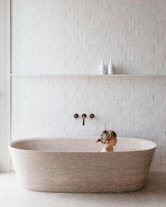 Contemporary Bathroom Design - Interior Decor and Designing Bathroom Flooring, Bathroom Faucets, Small Bathroom, Master Bathroom, Pink Bathrooms, Cozy Bathroom, Luxury Bathrooms, Dream Bathrooms, Villa Design