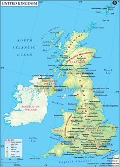 UK Map - Explore map of United Kingdon, it includes the north-eastern part of the island of Ireland, the island of Great Britain & numerous smaller islands. Map Of Great Britain, Old English Names, United Kingdom Map, England Map, Social Studies Worksheets, Orkney Islands, London Pictures, Country Maps, Republic Of Ireland