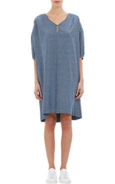 Plaid Peasant Dress