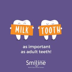 """""""Milk teeth are as important as adult teeth"""" Importance of milk teeth :- - Helps in the overall development of the children - Improves the speech/ better pronunciation - Children eat better - Beautiful and confident smile. #Milk #Teeth #Development #Important #Children#Smile #Eat #Smiline"""