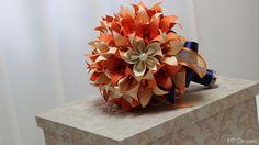 Buquê de origami para noivas em lirios e flores de sakura, uma bela opção para guardar para sempre , uma lembrança de um momento único em sua vida!