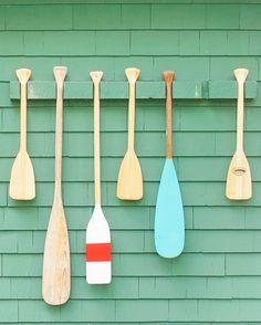 FOUND FREE & FLEA / A VERY MODEST COTTAGE Vintage oars.  Camp Wandawega