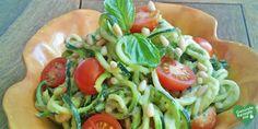 low carb zucchini nudeln mit avocado-pesto, low carb Diät rezept