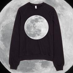 Moon - Unisex Black Raglan Sweater