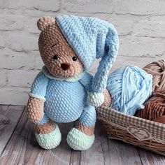 Mesmerizing Crochet an Amigurumi Rabbit Ideas. Lovely Crochet an Amigurumi Rabbit Ideas. Crochet Bear Patterns, Amigurumi Patterns, Amigurumi Doll, Crochet Teddy, Cute Crochet, Crochet Toys, Knitted Stuffed Animals, Crochet Animals, Baby Teddy Bear