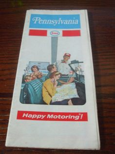 1972 Pennsylvania Esso Happy Motoring Map by PAULIE22 on Etsy, $6.95