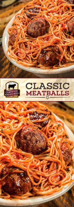Certified Angus Beef®️️️️️️️ brand Classic Meatballs are made with the best ground chuck and Italian sausage for HEARTY flavors! Oregano, fresh parsley, and parmesan bring this recipe together. It's SO easy to make these impressive classic meatballs! Perfect for a family meal or a party. #bestangusbeef #certifiedangusbeef #beefrecipe #easyrecipes #meatballrecipes