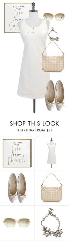 """dress"" by masayuki4499 ❤ liked on Polyvore featuring Oliver Gal Artist Co. and Chanel"