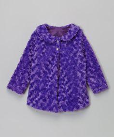 Loving this Purple Minky Jacket - Infant, Toddler & Girls on #zulily! #zulilyfinds