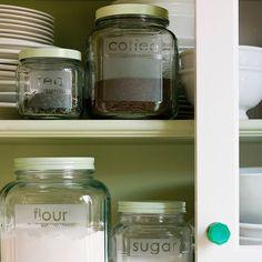 Etched Glass Storage Jars and more on MarthaStewart.com