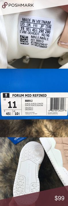 sports shoes ff001 0536a Adidas Forum Mid Refined Sz 11 BB8912 Supcol New in box Male size 11 super  cool