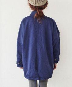 Oversized Coat with Large Front Pockets