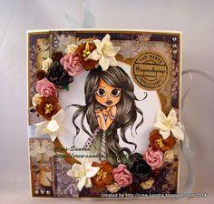 Boek kaart met cadeau-envelop gemaakt door Sandra