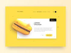 Macarons website by Adrian Reznicek