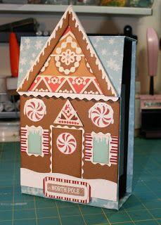 ღ Gingerbread House Recipe Box from Following The Paper Trail (find measurements and supplies used here) ღ *see companion pin