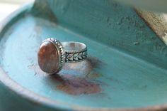 Boho Ring US size 6.5, Bohemian Ring, Yoga Ring, Gemstone Ring, by Sonajewelry on Etsy