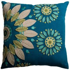 One Of A Kind Accent Pillow Cover (Blue) (T09658)