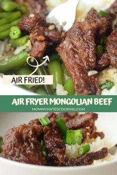 Make a great meal, that's easy to make gluten-free too with this Air Fryer Mongolian Beef, it's a great one for the Ninja Foodi too! Air Fryer Dinner Recipes, Air Fryer Recipes, Easy Dinner Recipes, Easy Meals, Asian Recipes, Beef Recipes, Healthy Recipes, Mongolian Beef, How To Cook Steak