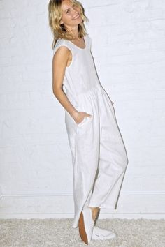 White Linen New Judo Jumpsuit