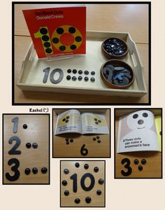 "Counting fun with the book, 'Ten Black Dots' from Rachel ("",)"