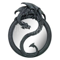 20 Inch Resin Dragon Ying Yang Celtic Wall Hanging Glass Mirror >>> Details can be found by clicking on the image-affiliate link. Magical Creatures, Fantasy Creatures, Fantasy Dragon, Fantasy Art, Dragon Medieval, Celtic Dragon, Ying Yang, Gothic Shop, Tattoo Hals