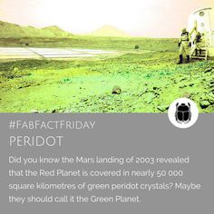 """Peridot August Birthstone - this unique bright green gemstone is linked to ancient Egypt where it was called """"The Gem of The Sun"""". Red Planet, Green Gemstones, Green Peridot, Bright Green, Ancient Egypt, Birthstones, Fun Facts, Planets, This Is Us"""