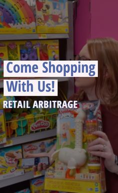 Click 'visit' to shop with us as we walk you through the steps of retail arbitrage Retail Arbitrage, Amazon Seller, Sell On Amazon, Shopping, Things To Sell