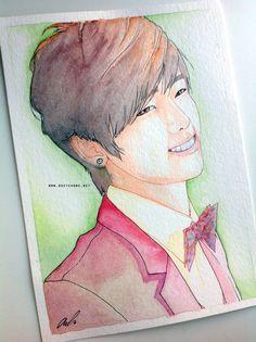Kang Minhyuk -- CNBlue fan art painting by antuyetlai
