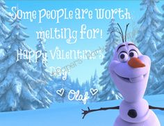 Custom Printable Frozen Olaf Valentine by PartyPopPapers on Etsy, $8.00
